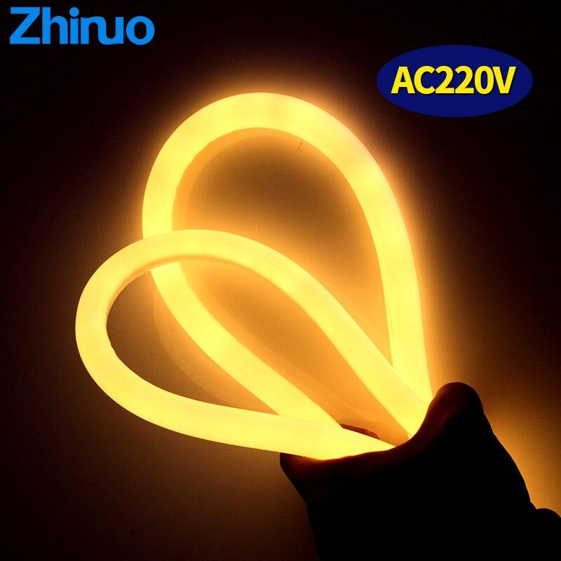 Neon LED Strip Light Tube 220V Power Plug Flexible Tubes Waterproof Luces LED Decoracion Stage Sign DIY Decor Aquarium lighting