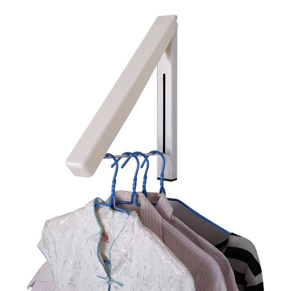 New Upgrade Stainless Invisible Folding Wall Hanger Mount Retractable Indoor Clothes Rack Rack Clothers Organizationn Set