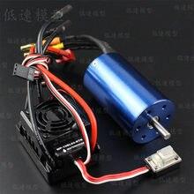 Moteur sans capteur sans balais à 4 pôles, 3660 3300KV, étanche, 60a, ESC 2S/3S WP-10BL60-RTR, pour modèles de voiture 1/10, télécommande
