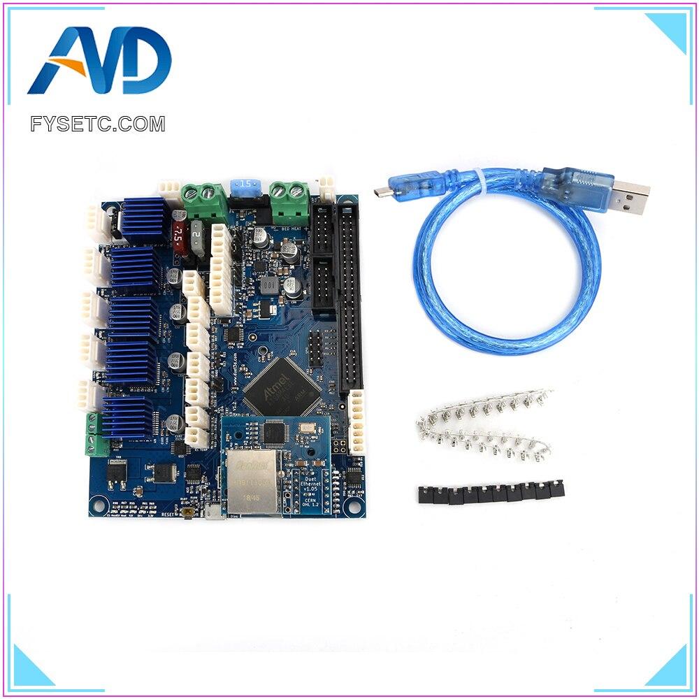 Клонированный дуэт Ethernet V1.04 Advanced 32 бит электронная доска обеспечивает подключение Ethernet для управления 3D принтеры ЧПУ