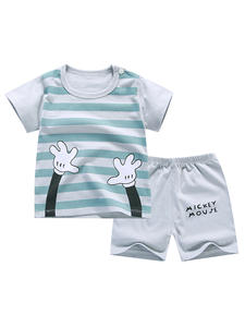 Outfits T-Shirt Clothing-Sets Short-Pants Bebes-Suits Baby-Boys-Girls 7-Years-Old Summer