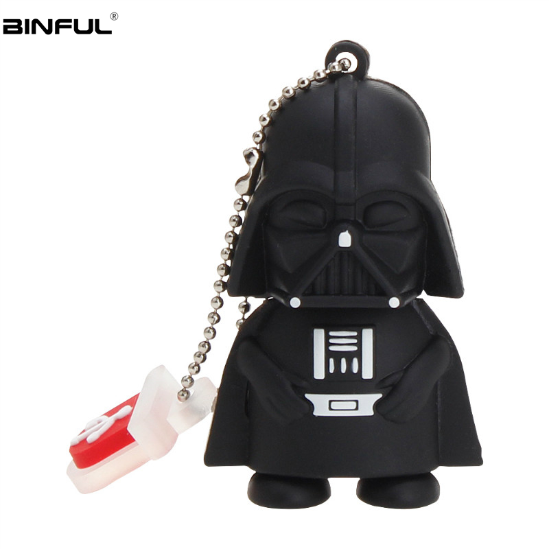 Star Wars Cartoon Usb Flash Drive 128GB 64GB 32GB Robot Yoda Pen 2.0 Classic U Disk Memory Stick Free Shipping