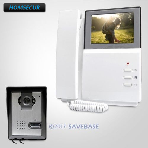 HOMSECUR 4.3 Wired Video Door Entry Call System with One Button Unlock for Home Security homsecur 7 wired video door entry call system with one button unlock for home security