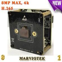 """Gran tamaño 1/2. 5 """"Sony Sensor de 8mp 3840*2160 4 K módulo de la cámara ip con puertos de audio h.265 onvif cctv cámara de alarma RS485 cctv kamera"""