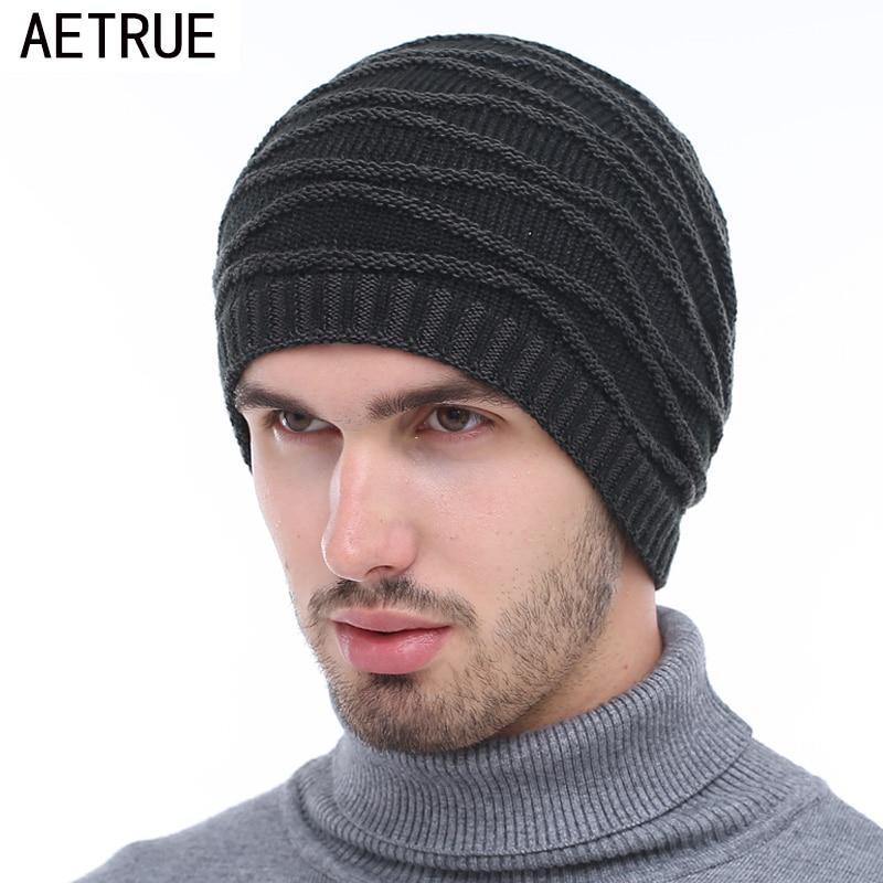 Beanies Men Winter Hats Women Knitted Hat Bonnet Caps Baggy Brand Womens Winter Hats For Men Warm Wool Skullies Beanie New 2018