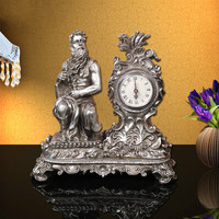 Resin creative wedding supplies Home Furnishing Decor clock figure decoration room decoration