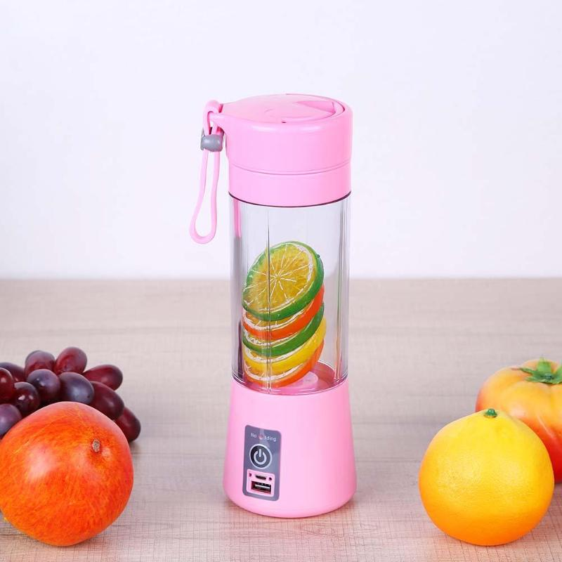 380ml USB Mini Juicer Cup Extractor Multipurpose Household Fruit Vegetablr Blender Mixer Portable Juice Cup Water Bottle