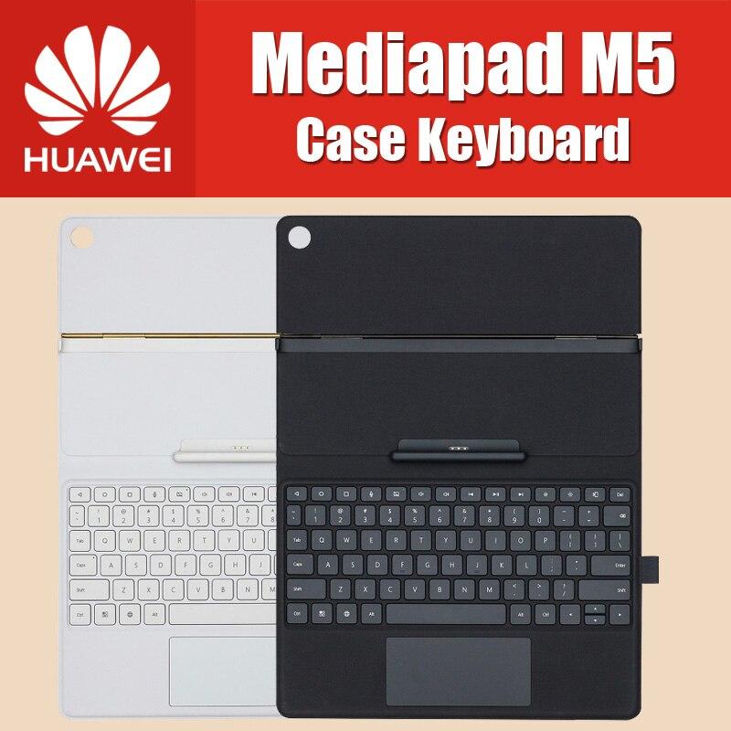 Officiel 100% D'origine 10.8 pouce HUAWEI MediaPad M5 Pro Cas Clavier En Cuir Stand Flip Cover