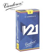 Original V21 Francia Vandoren Clarinete Cañas Fuerza 2.5 #3 #3.5 #3.5 #4 # Caja de 10 [Envío Libre]