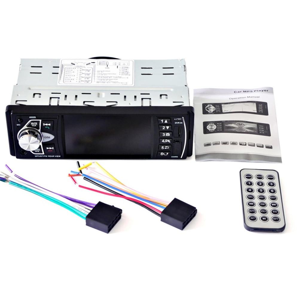 New 4022D 4.1inch TFT HD Digital Screen Car DVD Audio MP5 Player Radio FM Transmitter Bluetooth Support Hands-free Calls car fm transmitter kit bluetooth hands free radio adapter mp3 player lcd charger 220130