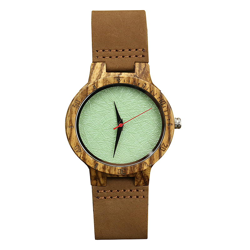 Special Rough Uneven Face Watch Man's Woman's Wooden Quartz Wristwatch Analog Natural Wooden Clock Genuine Leather Montres Homme