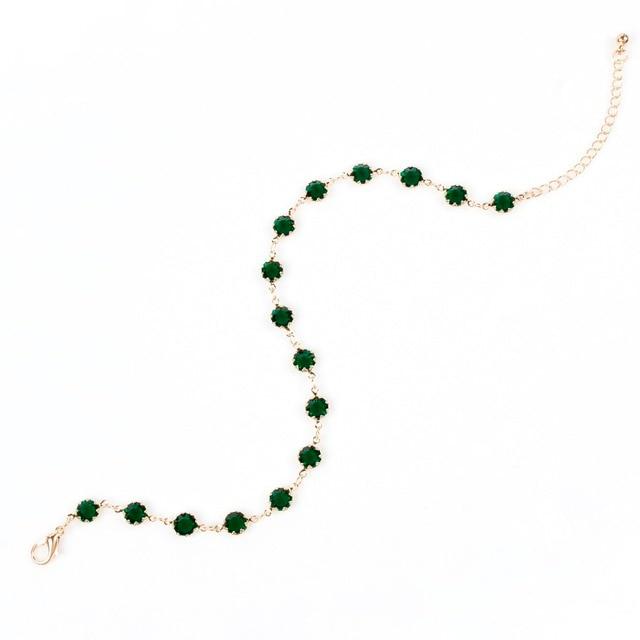 Фото модное геометрическое хрустальное ожерелье с подвеской золотого цена