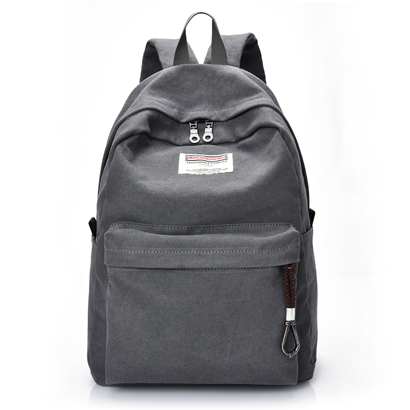 Fashion Men Women Canvas Travel Backpack With USB Casual Laptop Rucksack Computer Bag 14 Inch School Bags For Girls Boys 1383