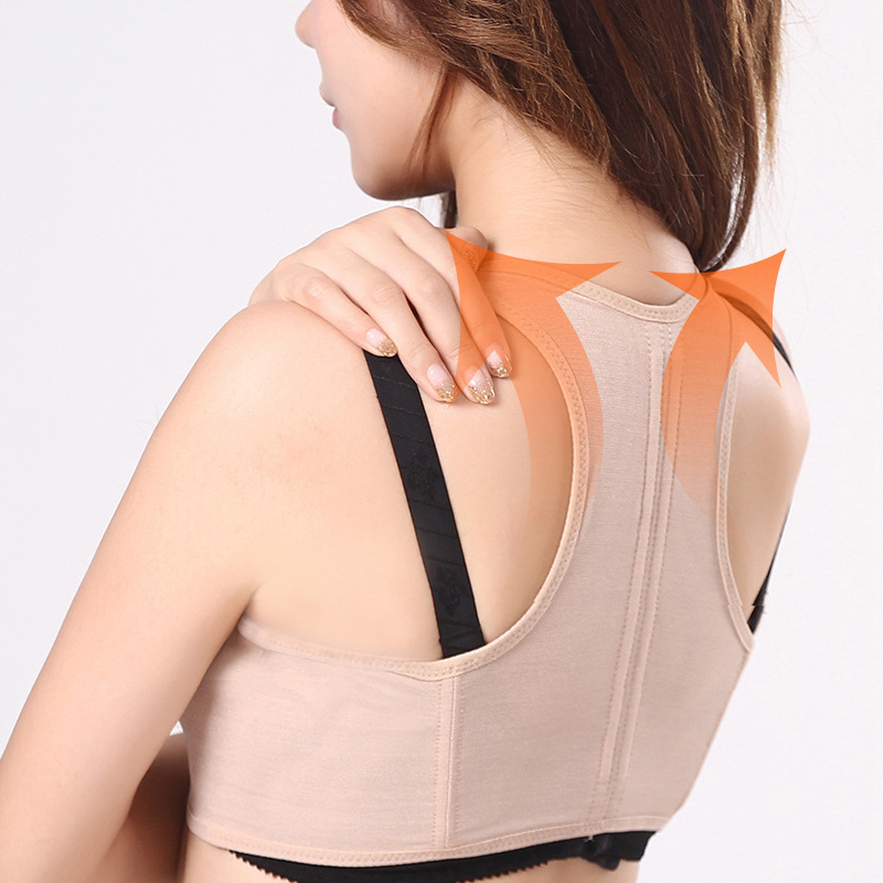 S-XL Women Back Support Belt Corrector Adjustable Orthotics Posture Correction Brace Rectify Posture Corset Back Massage 30 unisex adjustable posture corrector corst back men brace shoulder belt lumbar support straight correction for health care
