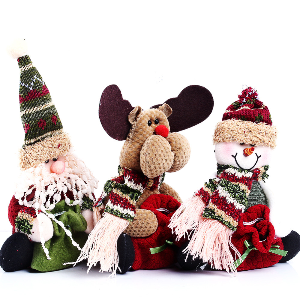 2016 3 Styles Reindeer/ Snowman /Santa Claus Ornament Natal Cute Christmas Stocking New Year Christams Decoration 1 Style - cn1510653759 store