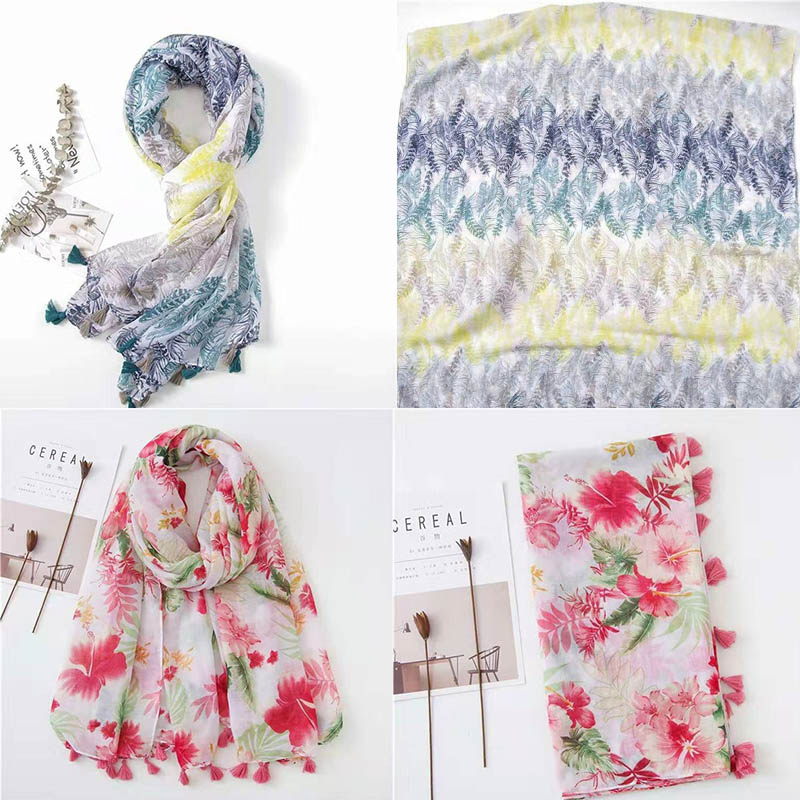HTB1p2lKQPDpK1RjSZFrq6y78VXa2 - VISROVER Fashion Summer Scarf For Women Scarf For Lady Viscose Shawl Tropical Print Scarf Head Luxury Brand Beach Scarves Hijab