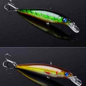 Image 4 - 8 pièces haute qualité carpe appât de pêche Pesca Minnow leurre plastique leurres 3D oeil 11cm 13.5g Isca artificiel HCS crochet poisson attirail