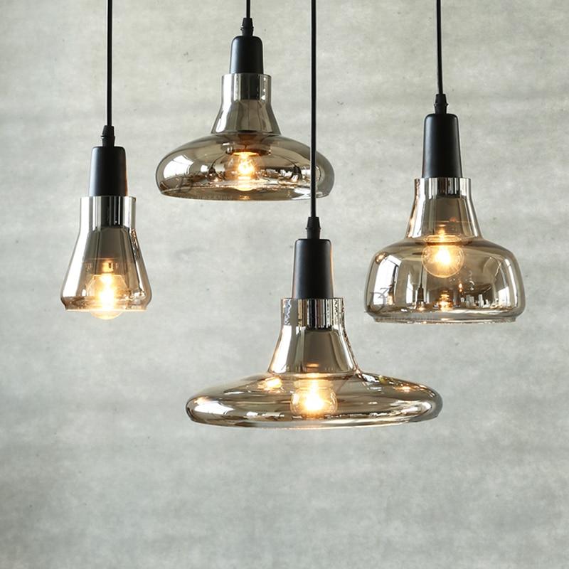 Modern simplified glass Hang lamps pendant lights led lights for home nordic pendant light fixtures loft style hanging lamp Pendant Lights     - title=