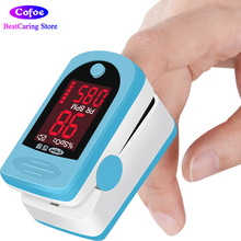 Cofoe Finger Pulse Oximeter Fingertips Blood Oxygen Meter Portable Pulse Heart Rate Monitor med Alarm OLED Display SPO2 Blue