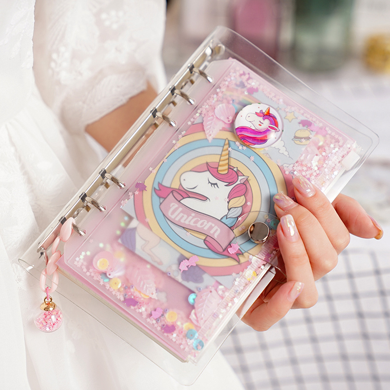 2019 Unicorn Cute Notebook Notepad Pink Kawaii Planner Gift Set Softcover Creative School Supplies Bullet Journal Notebook Diary-in Notebooks from Office & School Supplies