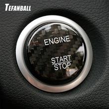 Carbon Fiber Car Engine Start Stop Button Cap Trim Cover For Mercedes Benz C Class W205 AMG GLC GLA GLS GLE CLA X253 accessories недорого
