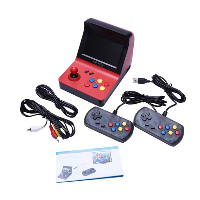 Powkiddy A8 Retro Arcade Console Game Console Gaming Machine Built-In 3000 Classic Games Gamepad Control AV Out 4.3 Inch ScreePowkiddy A8 Retro Arcade Console Game Console Gaming Machine Built-In 3000 Classic Games Gamepad Control AV Out 4.3 Inch Scree