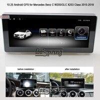 10,25 дюймов сенсорный экран Android 6,0 Автомобильный мультимедийный плеер для Mercedes Benz C W205/GLC X253 класс 2015 2018 автомобильный gps навигация