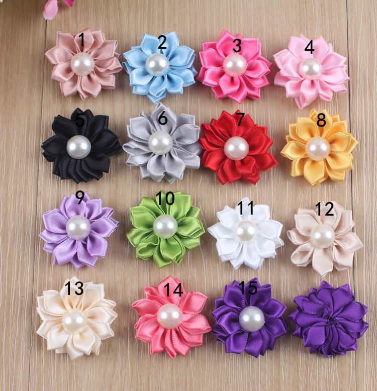 100pcs 15 small satin daisy fabric flowers diy craftssewingparty 100pcs 15 small satin daisy fabric flowers diy craftssewingparty wedding embellishment in hair accessories from mother kids on aliexpress mightylinksfo