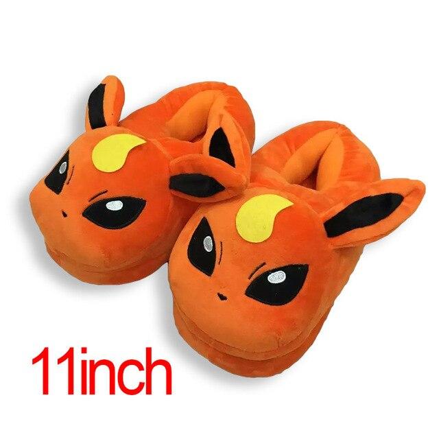 Winter Men or Women Cartoon Pokemon Slippers Elf Ball Pikachu Pokemon Go Plush Shoes Warm House Slippers 2