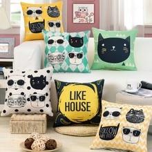 45x45 см мультфильм Лежанка для котиков для диких животных история для детской комнаты, Наволочка на подушку домашняя декоративная подушка чехол для стула кровать B176