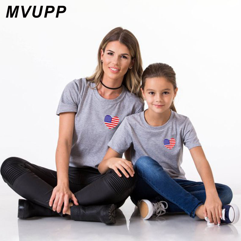 a788780354 Summer family matching outfits mommy and me father mother daughter son baby  girl tshirt look white tee tops cotton Print clothes
