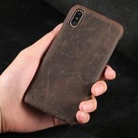 LANGSIDI Full Grain Leather Phone Case For Xiaomi Mi 9 8 8SE 6X Redmi Note 5 Pro 5 Plus 4X cover Cases For Samsung S8/S8 Plus