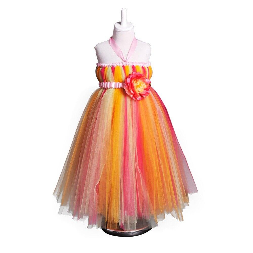 Décontracté Teen Summer robes longueur cheville sans manches solide fleur filles robe âge 10 12 14 pour fille jarretelle robe Tutu robe de bal
