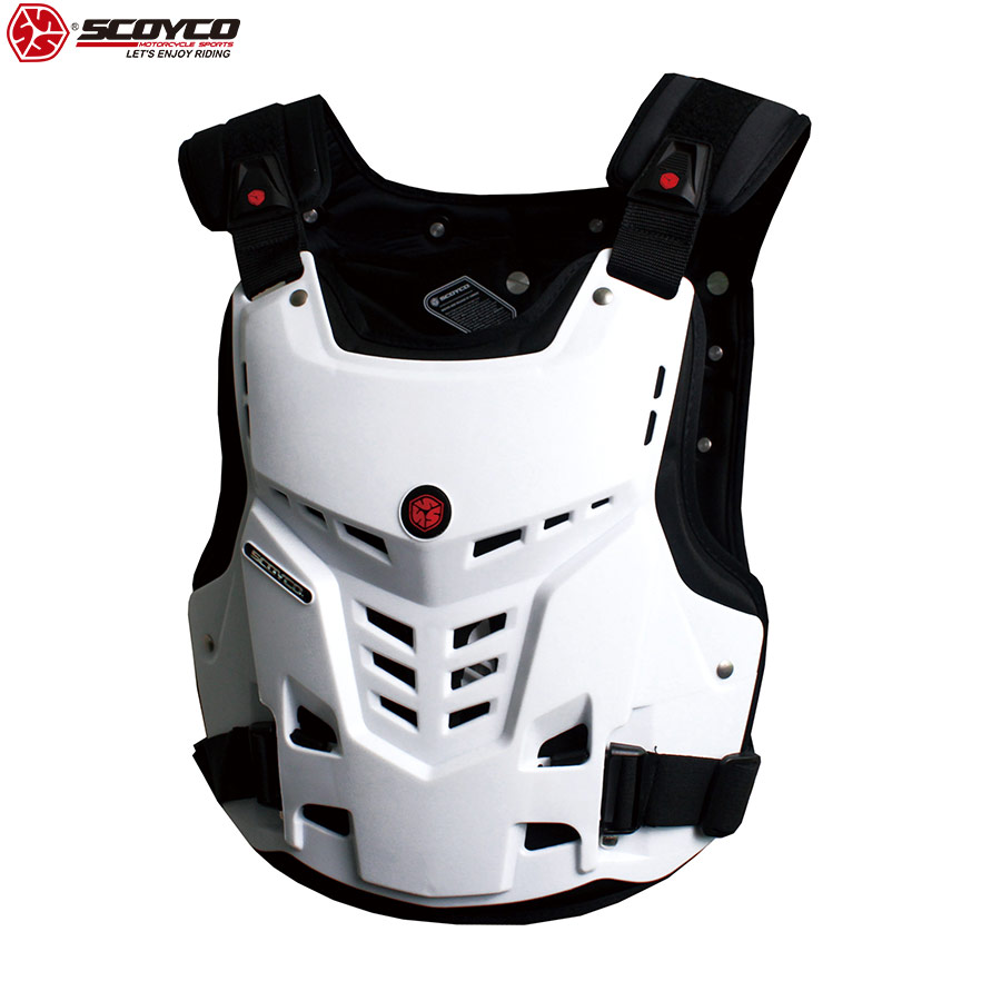 SCOYCO 21 Ventilate Motorcycle Armor Chest Protector Support Shockproof Shell Protective Breathable Amor Chest Guard Gear AM05