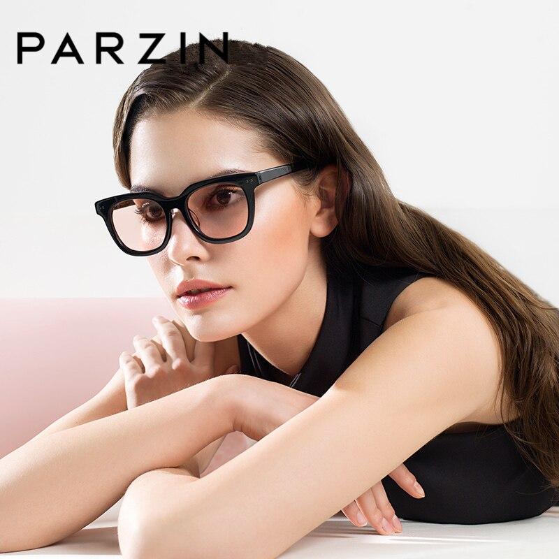 PARZIN Brand Sunglasses Women Retro Fashion Driving Glasses Shield Anti UV400 Big Frame Light Lens High Quality Sunglasses 9651