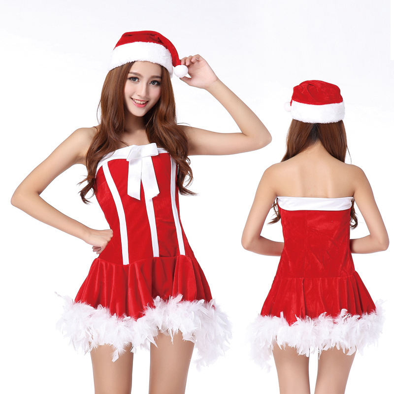 Free Shipping Red Lolita <font><b>Christmas</b></font> Cosplay Uniform <font><b>Sexy</b></font> Lingerie <font><b>Costumes</b></font> <font><b>Sexy</b></font> Babydolls <font><b>Outfit</b></font> Underwear Nightgowns Sleepwear image
