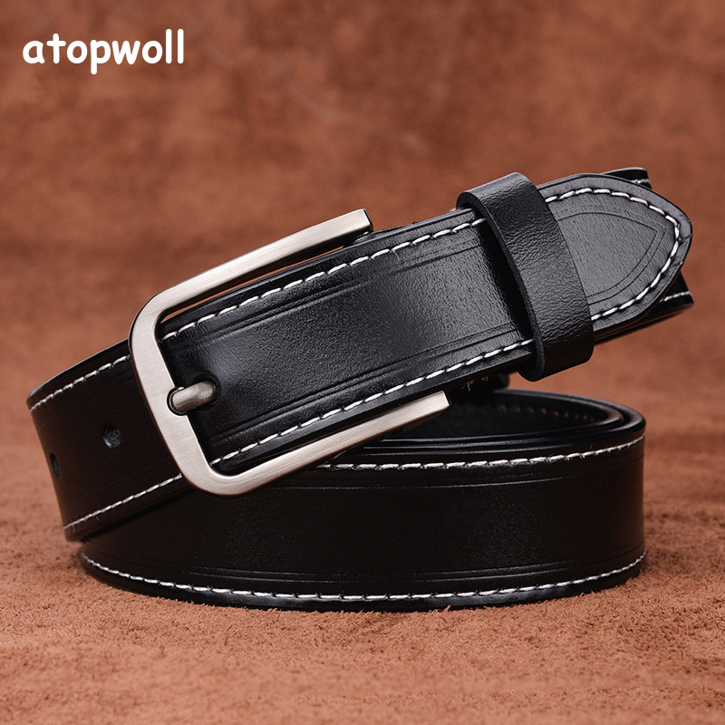 2019 cow genuine leather belts for Women jeans strap Vintage Metal Pin buckle fashion style Trouser cummerbunds high quality in Women 39 s Belts from Apparel Accessories