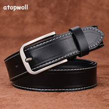 2019 cow genuine leather belts for Women jeans strap Vintage Metal Pin buckle fashion style Trouser cummerbunds high quality