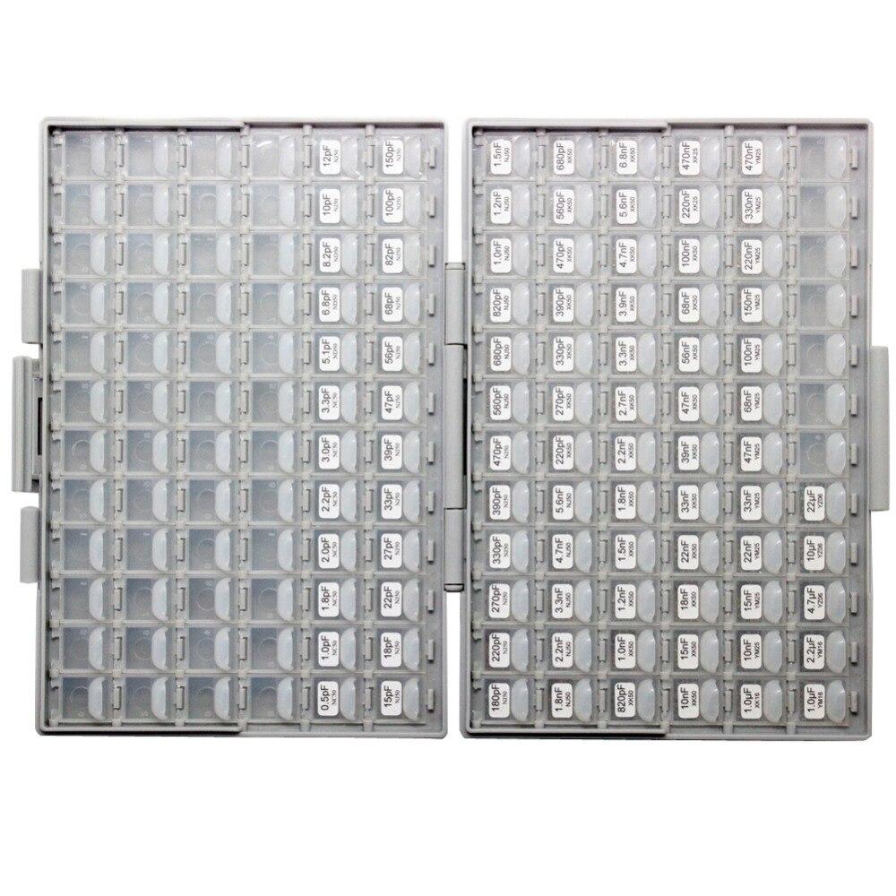AideTek SMD 1206 kondensaatorikarp komplekti kuni 22uF 89 V x 50 tk - Tööriistade hoiustamine - Foto 2