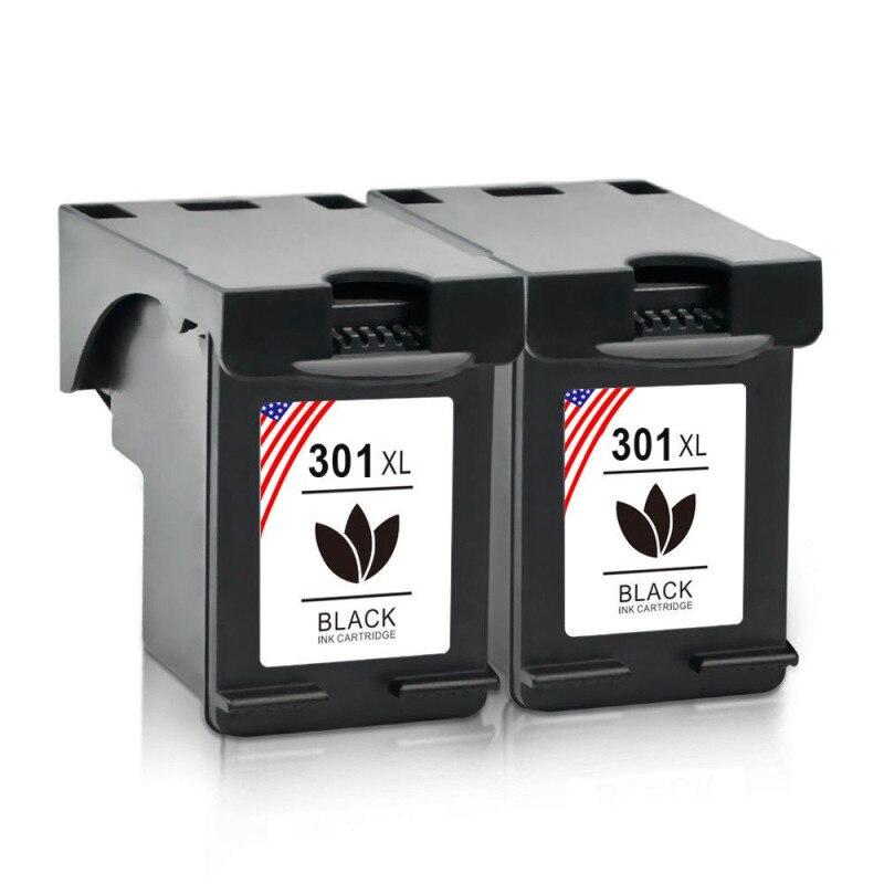TONER KINGDOM 2pcs Black Ink Cartridge For HP 301 XL Deskjet 2544 3000 3050 3052A 3054a Envy 4500 4502 4504 4505 4507 5530