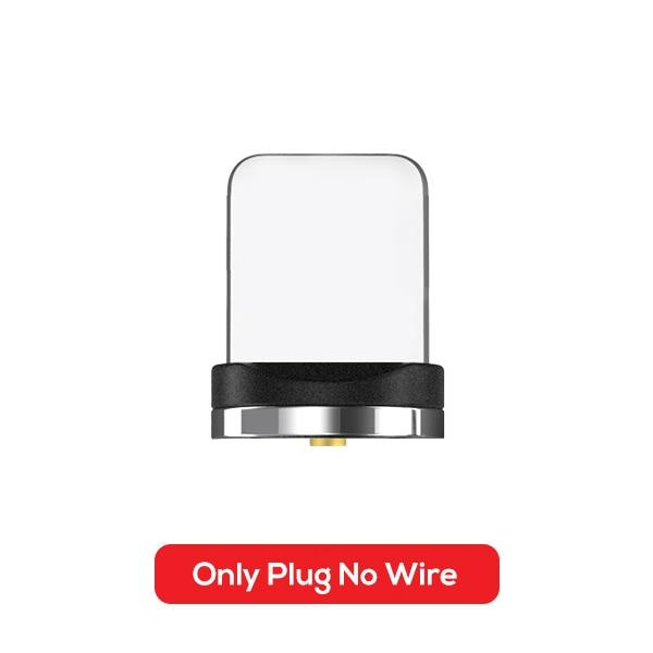 TOPK AM51 90 градусов светодиодный Micro USB кабель Магнитный зарядный кабель для iPhone samsung Xiaomi usb type C Магнитный зарядный кабель адаптер - Цвет: Only Plug No Cale