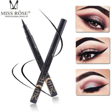 MISS ROSE eyeliner black hot silver tube eyeliner pen single color box waterproof durable