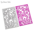 Butterfly Flower Square Frame Metal Cutting Dies Stencils DIY Scrapbooking Album Decorative Embossing Cards Die Cutting Template