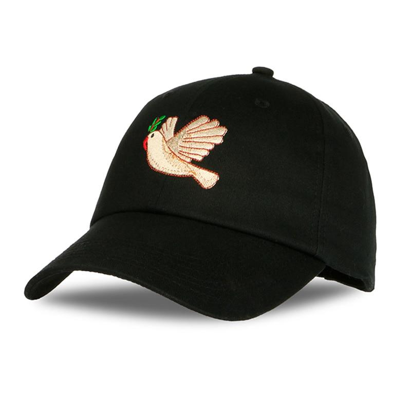PATESUN Retro 2018 New Peace Dove Cartoon Cap Women Baseball Caps Fashion Dad Hats Black Casual Cap cappello donna hip hop Hats