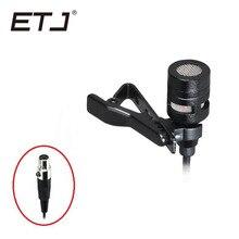 Micro cravate Mini XLR à pince de marque ETJ micro cravate omnidirectionnel à condensateur filaire avec prise 3.5mm 3 broches 4 broches 515
