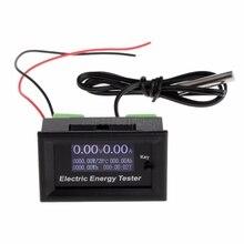 Цифровой вольтметр постоянного тока 120 В 20А, измеритель напряжения тока, ЖК-тестер энергии, зарядное устройство, емкость источника питания S28, Прямая поставка