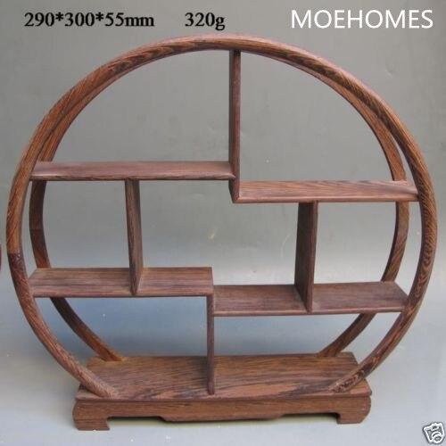 etagere incurvee en bois de la collection orientale chinoise presentoir de curios arche de sculpture sur bois decorations artisanales pour la