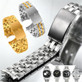 AUTO 19mm 20mm Silver Durable Stainless Steel Watch Band Bracelets Curved end for Tissot PRC200 T17 T461 T014 T067 + FREE TOOLS