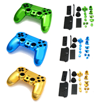 For Sony Playstation 4 Joystick Metal Plated Full Housing Button Shell Case Kit For Sony PS4 Wireless Controller Case Cover Skin