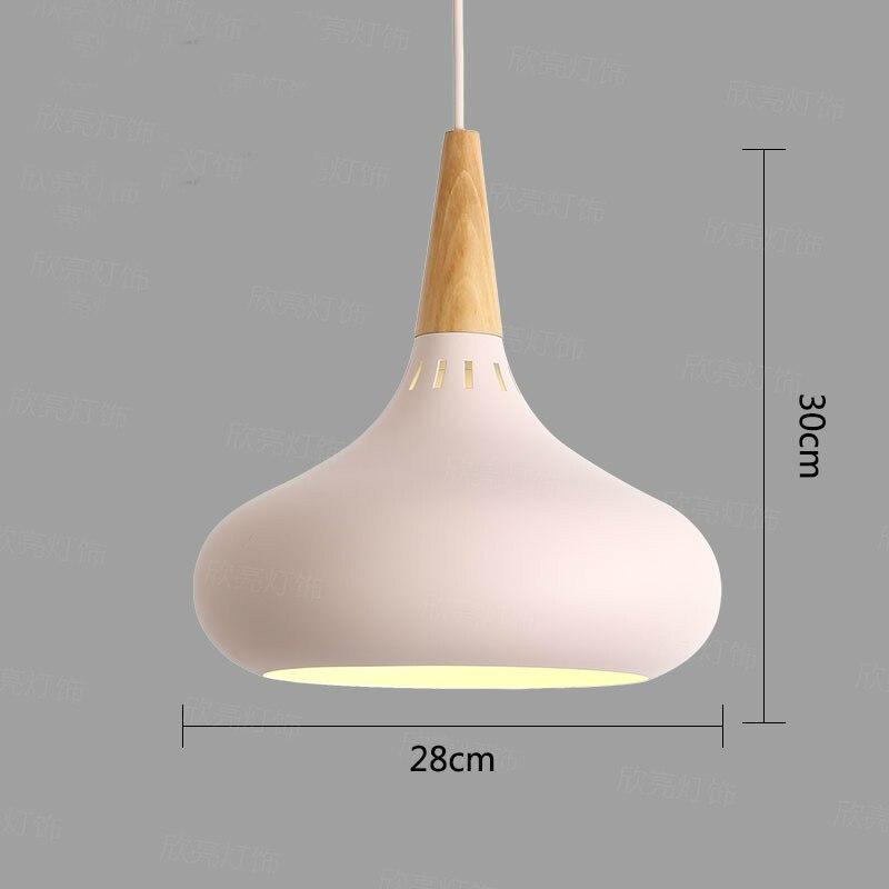 Image 5 - LED Hanglamp Vintage Loft Pendant Lights/Pendant Lamps Aluminum Suspension Luminaire Wood Hanging Lightings Kitchen Lustre Lampe-in Pendant Lights from Lights & Lighting